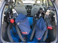 Twin folding bikes in our Nissan Micra