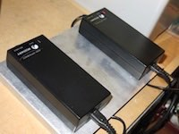 Twin battery chargers